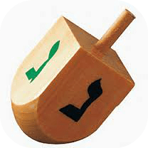 "Many people (and by ""many people"" I mean absolutely no one) have been asking about the origins of the game of dreidel. DearKidLoveMom.com"