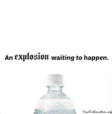 A soda water explosion just waiting to happen. DearKidLoveMom.com
