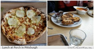 eclectic food at Porch in Pittsburgh. DearKidLoveMom.com
