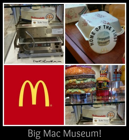 Big Mac memorabilia at the Big Mac Museum. DearKidLoveMom.com