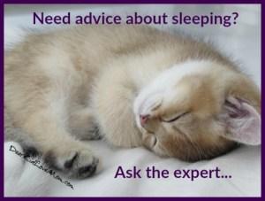 Need advice about sleeping? Ask the expert. DearKidLoveMom.com