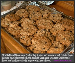 It's National Homemade Cookie Day. As far as I'm concerned, this includes cookies made in anyone's home, cookies that have traveled to anyone's home, and cookies eaten by anyone who has a home. DearKidLoveMom.com