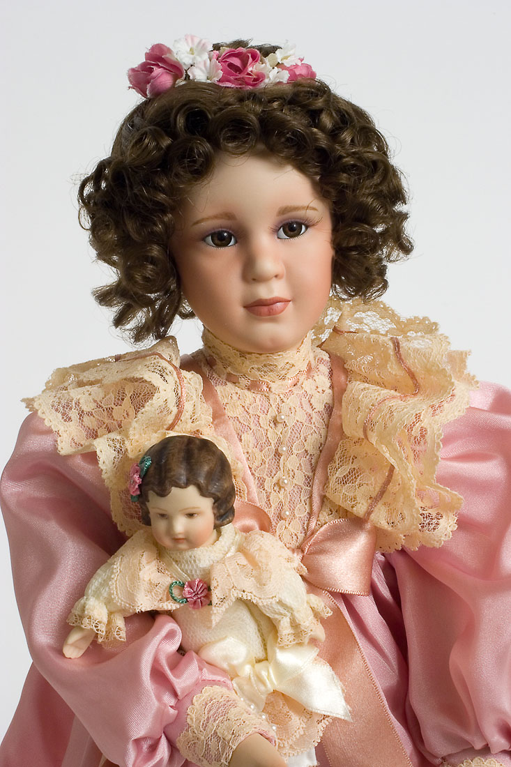 Baby Doll With Toys Mary Elizabeth Porcelain Soft Body Collectible Doll