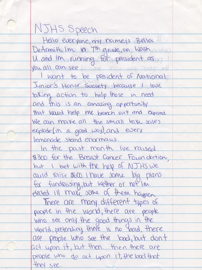 How to write a good application essay njhs
