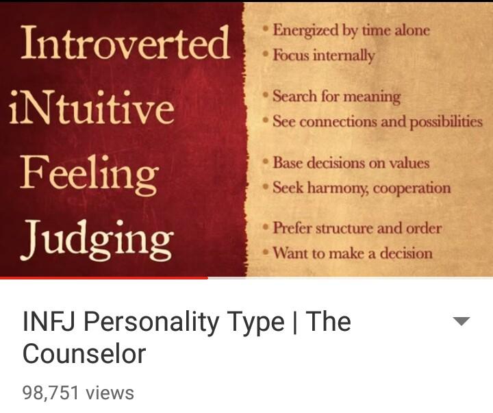 INFJ Personality deartheworlds