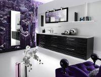 Lila Badezimmer Innendesign Ideen