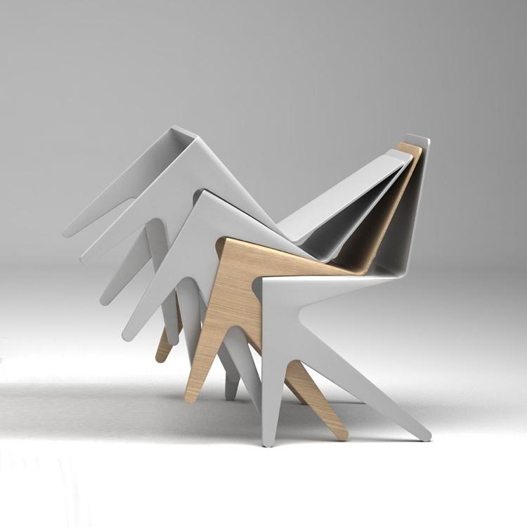 beautiful ausgefallenes stuhl design kohlenstoff alvaro uribe ... - Asymmetrischer Stuhl Casamania