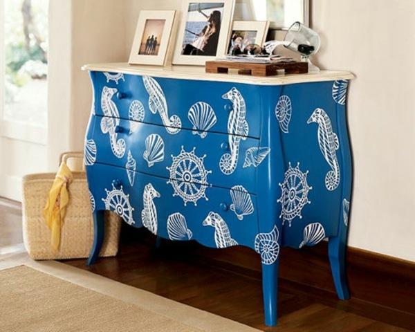 Bemalte Möbel geben neues Flair für Ihre Zimmer - bemalte mobel romantischen motiven