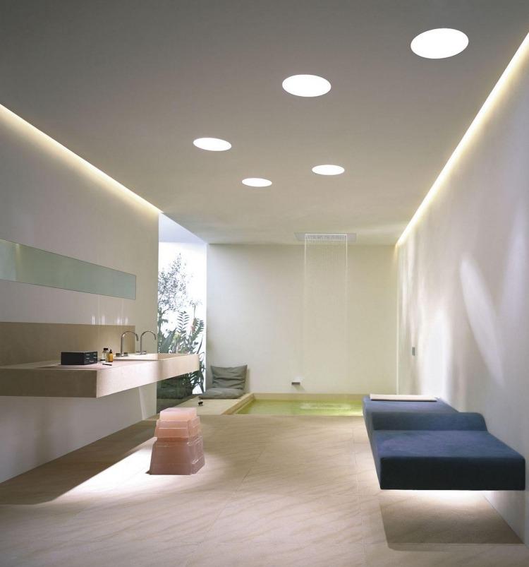 Abgeh228;ngte Decke Mit Indirekter Beleuchtung Als Dekoration