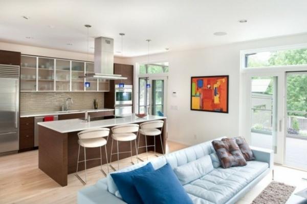 Inneneinrichtungsideen - Wohnzimmer mit Küche - inneneinrichtungsideen wohnzimmer kuche