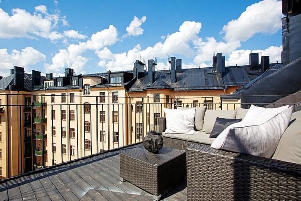 Dieses Moderne Weiße Penthouse In Stockholm Demonstriert Luxus ...