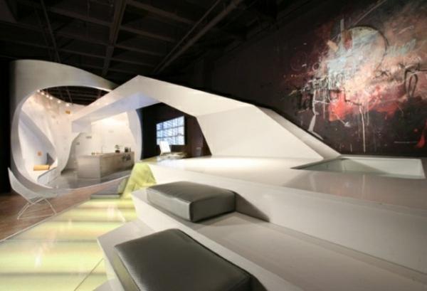futuristisches interieur loft wohnung | node2010-hausdesign ...
