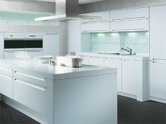 Arctar Hochglanz Weiß Küche - weisse kuche mit mosaikfliesen