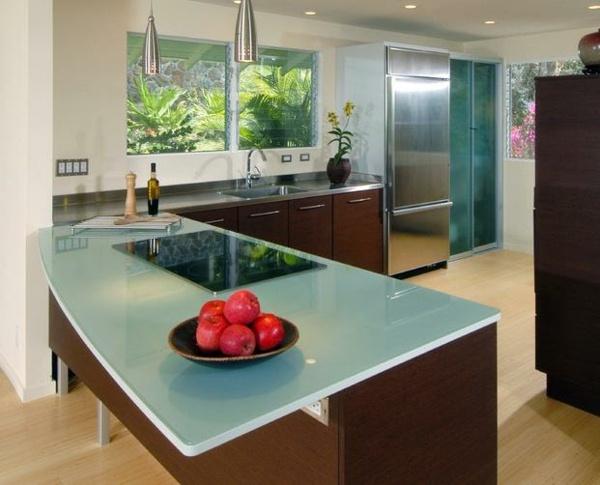 Glas arbeitsplatte küche  Arbeitsplatten-aus-glas-extravagant-81. beautiful küche ...
