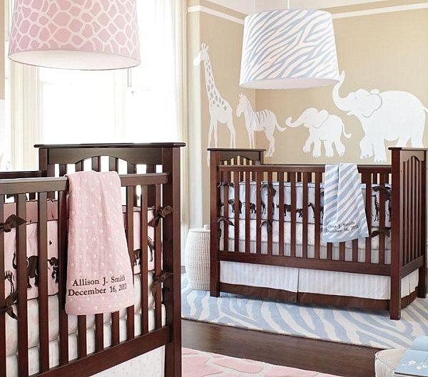 Babyzimmer-Junge-Mädchen-Wandgestaltung Kinderzimmer Pinterest - babyzimmer madchen und junge
