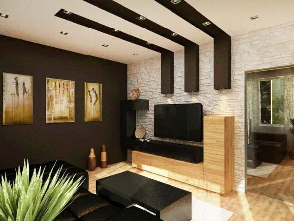29 kreative Ideen zur Deckengestaltung in der Wohnung - gestaltungsideen wohnzimmer