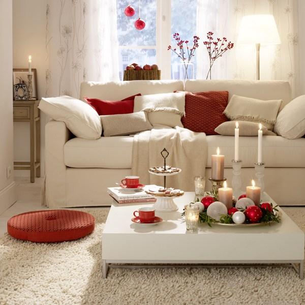 Wohnzimmer weihnachtlich dekorieren und mit allen Sinnen genießen - dekoration wohnzimmer bilder