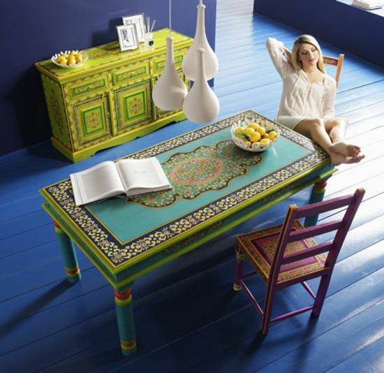 Bemalte Möbel mit romantischen Motiven für Zuhause - bemalte mobel romantischen motiven