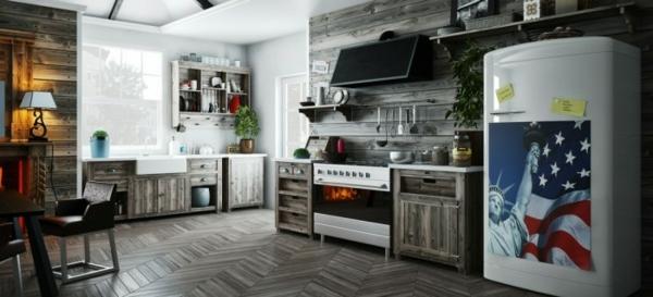 Modernes Küchen Design u2013 Konzepte für offene Regalsysteme - skandinavisches kuchen design sorgt fur gemutlichkeit