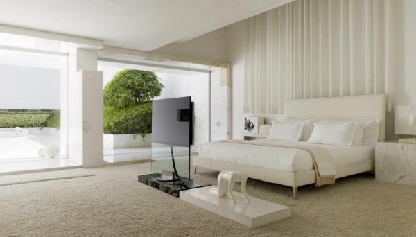Minimalismus in weiß - moderne Architektur in Mexico City - schlafzimmer creme wei