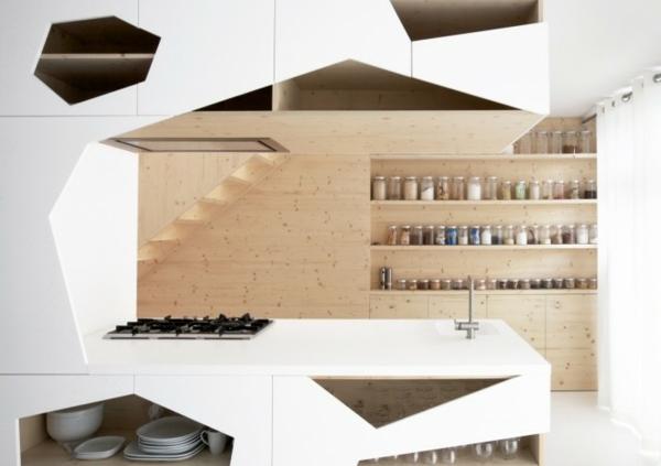 Fesselnd Modernes Küchen Design U2013 Konzepte Für Offene Regalsysteme Skandinavisches  Kuchen Design Sorgt Fur Gemutlichkeit