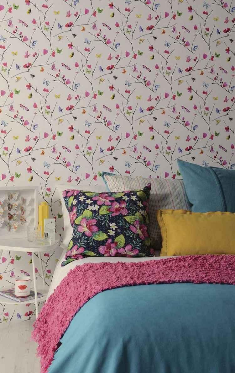 Wandgestaltung Mit Farbe Muster Schlafzimmer Schlafzimmer