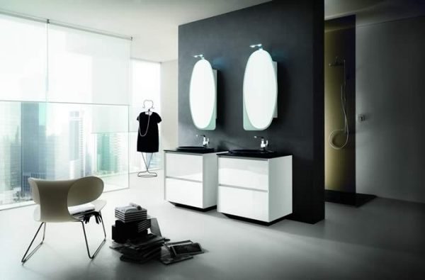 Stunning Moderne Badmoebel Artesi Hochglanz Holz Images Ideas