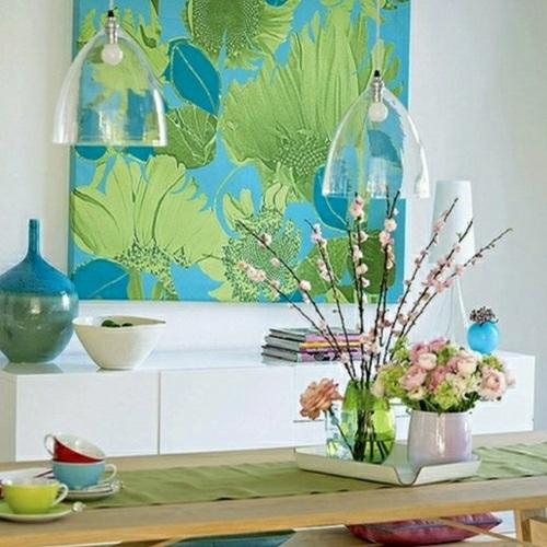 tapeten wohnzimmergestaltung türkis: modernes haus wohnzimmer blau ... - Wohnzimmer Grun Turkis