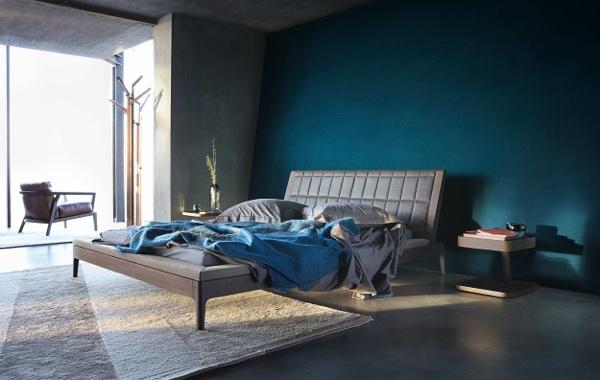 35 Einrichtungsideen für Schlafzimmer - Die Betten von Roche Bobois - schlafzimmer in turkis