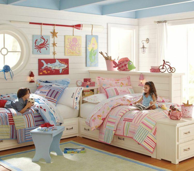 Kinderzimmer für zwei gestalten - 15 interessante Einrichtungsideen - babyzimmer madchen und junge