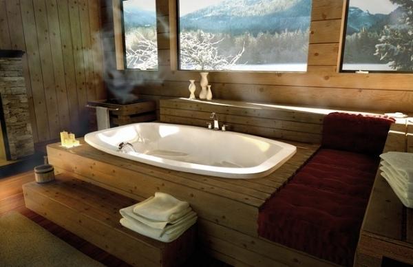 Ideen für Badgestaltung- Badewanne Design wird zum Blickfang im Bad - badezimmer einbau