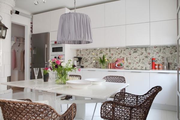 25 Ideen für kreative Anwendung der Tapeten in der Küche - ideen kuche