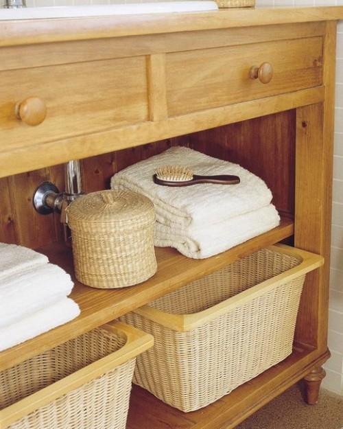 Praktische Ideen für Aufbewahrung in Körben - 30 Inspirationen - badezimmer 30er