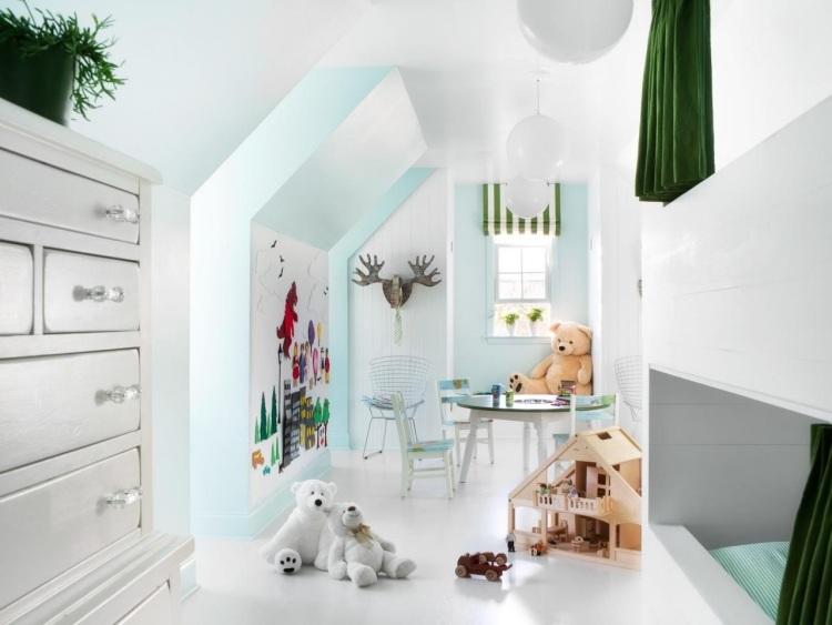 Cozy 28 einrichtungsideen fur kinderzimmer mit dachschrage for Kinderzimmer dachschrage