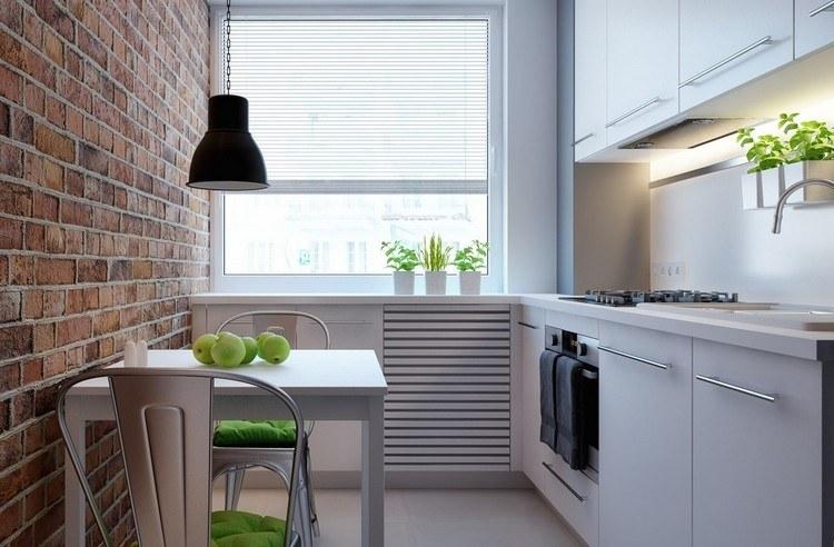 Kleine Küche einrichten - Tipps für Raumverteilung - schmale fenster kuechen gestaltung
