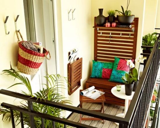 40 Ideen für attraktive Balkon Gestaltung für wenig Geld - mini balkon gestalten