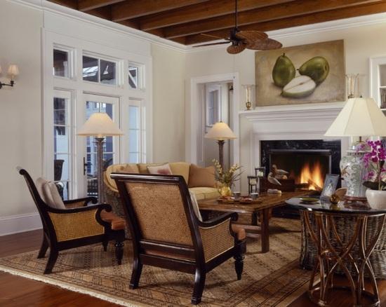 Einrichtung im Kolonial Stil- Ideen für Möbel und Deko Kombinationen - wohnzimmer kolonialstil