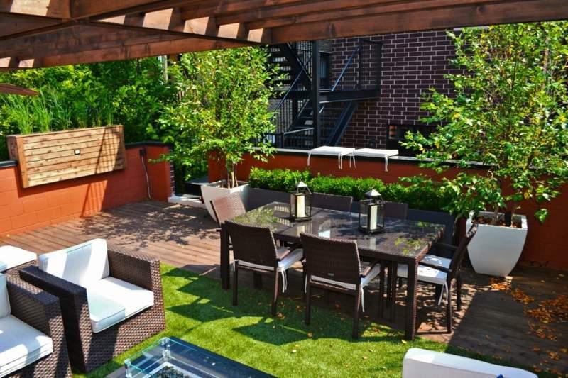 Kleinen urbanen Garten gestalten u2013 Ideen für modernes Gartendesign - garten gestalten bilder