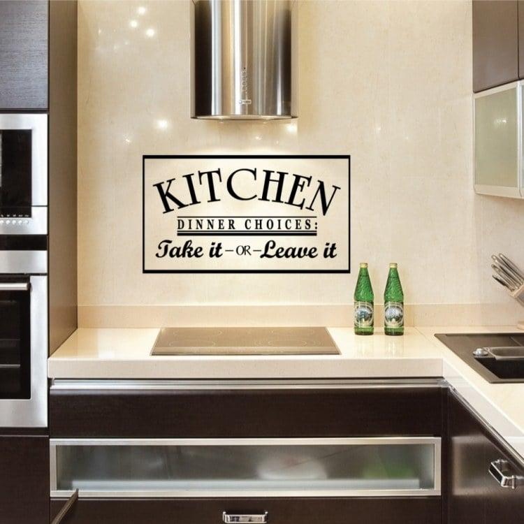 ... Interessante Ideen Für Deko Und Wandgestaltung In Der Küche   Kuche  Wandgestaltung ...