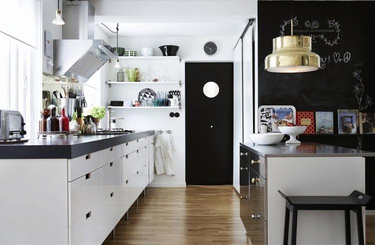 Interessante Ideen für Deko und Wandgestaltung in der Küche - wandgestaltung kuche modern