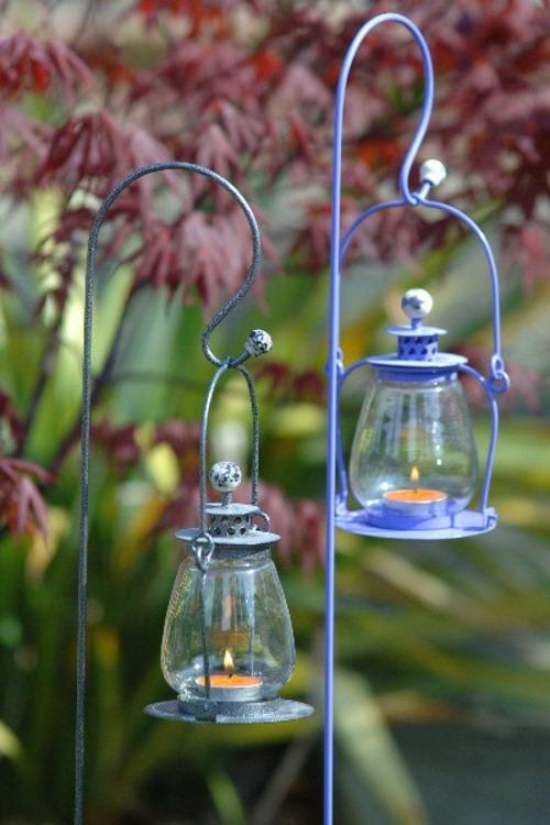 Windlicht im Garten - 45 kreative Bastelideen für Gartendeko - gartendeko selbst machen