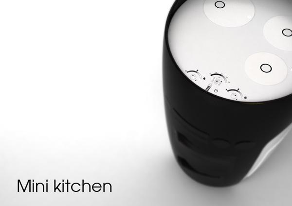 Kompaktes Miniküche Design-  - kompaktes minikueche design konzept