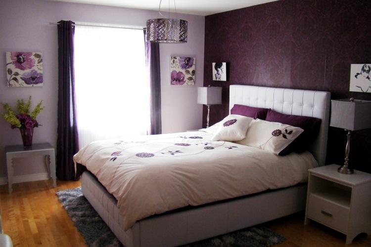 ... Lila Schlafzimmer Gestalten   28 Ideen Für Interieur In Fliederfarbe    Deko Ideen Schlafzimmer Lila ...