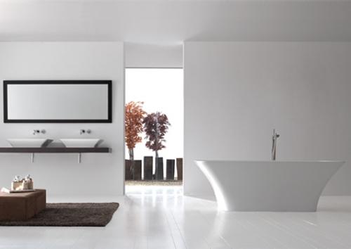 ideen : ehrfürchtiges moderne badewanne eingemauert bad design ...
