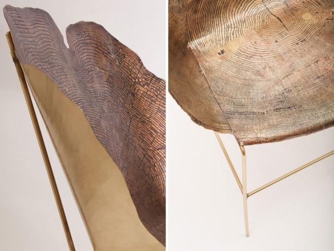 Hocker Baumstamm Optik Massivholztisch baumstamm quot suar der - designer stuehle metall baumstamm