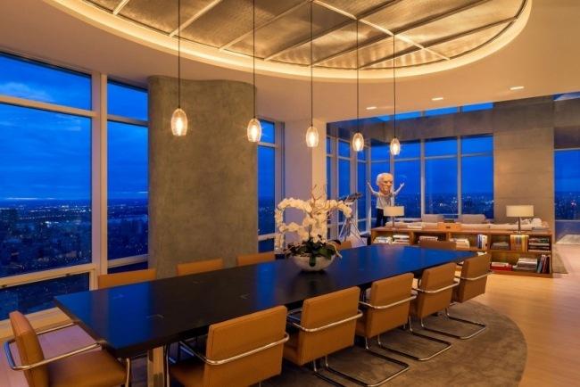 Elegant Spektakuläre Maisonette Wohnung In New York U2013 Wohnen Im Wolkenkratzer   Esszimmer  New York