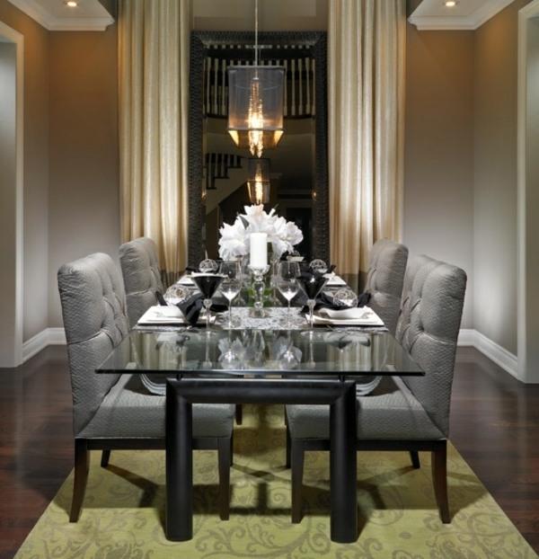 Esszimmer Stuhle Perfektes Ambiente Farbe. 105 Wohnideen Für Esszimmer    Design, Tischdeko Und Essplatz Im Garten   Esszimmer Stuhle Perfektes