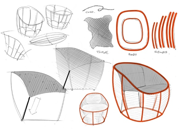 ... Lounge Chair   Lounge Sessel Membrane Benjamin Hubert ...