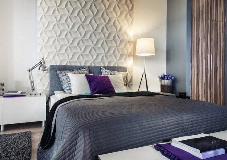 3d Wandpaneele Schlafzimmer  25 Ideen F252;r Attraktive Wandgestaltung Hinter Dem Bett