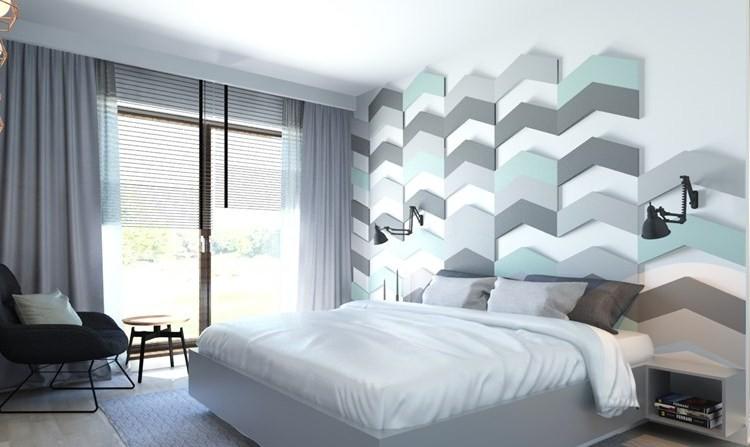 25 Ideen für attraktive Wandgestaltung hinter dem Bett - wandgestaltung